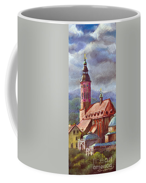 Pastel.germany Coffee Mug featuring the painting Germany Baden-baden 05 by Yuriy Shevchuk