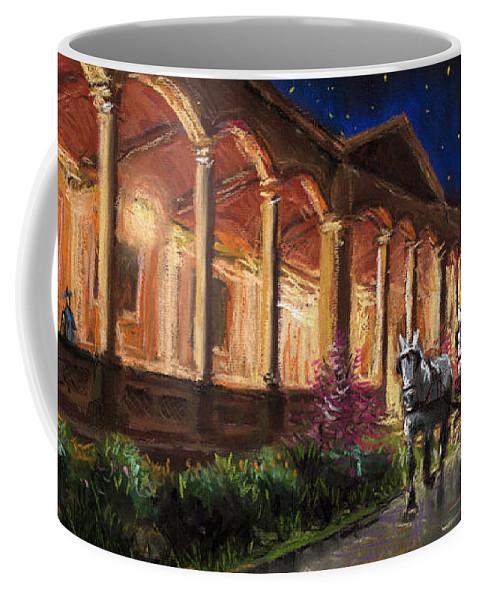 Pastel Coffee Mug featuring the painting Germany Baden-baden 13 by Yuriy Shevchuk