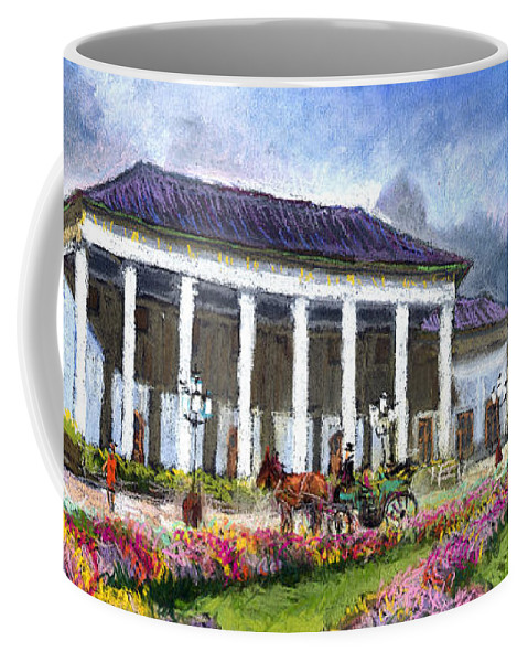 Pastel Coffee Mug featuring the painting Germany Baden-baden Kurhaus Kasino by Yuriy Shevchuk