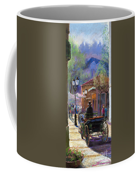 Pastel Coffee Mug featuring the painting Germany Baden-baden Spring Ray by Yuriy Shevchuk