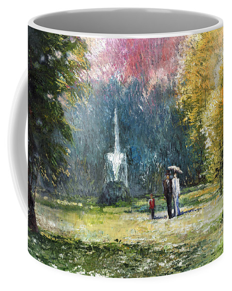 Oil Coffee Mug featuring the painting Germany Baden-baden by Yuriy Shevchuk