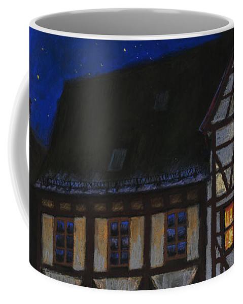 Pastel Coffee Mug featuring the painting Germany Ulm Fischer Viertel Moonroofs by Yuriy Shevchuk