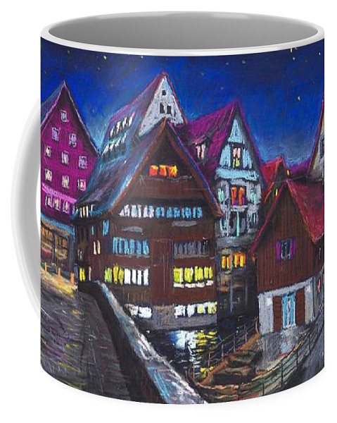 Pastel Coffee Mug featuring the painting Germany Ulm Fischer Viertel by Yuriy Shevchuk