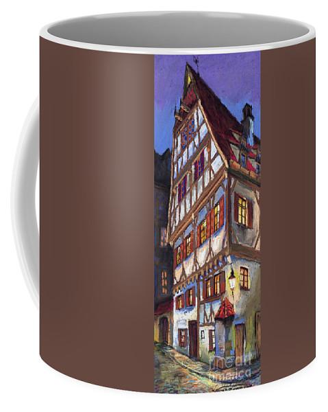 Pastel Coffee Mug featuring the painting Germany Ulm Old Street by Yuriy Shevchuk