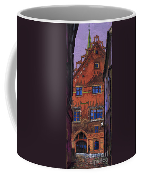 Pastel Coffee Mug featuring the painting Germany Ulm by Yuriy Shevchuk