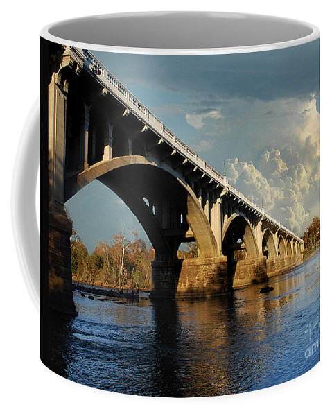 Scenic Tours Coffee Mug featuring the photograph Gervais Street Bridge, Columbia, Sc by Skip Willits