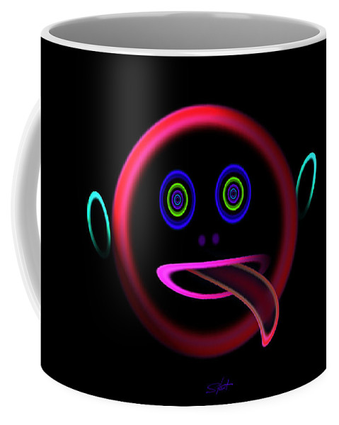 Face Coffee Mug featuring the painting Get Licked by Charles Stuart