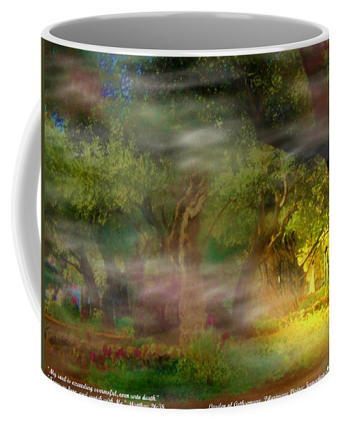 Inspirational Photography Coffee Mug featuring the photograph Gethsemane Vision-2008 by Anastasia Savage Ealy