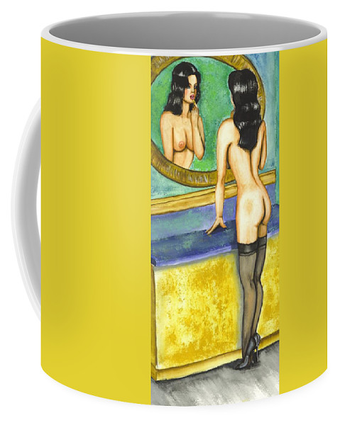 Figure Coffee Mug featuring the painting Getting Ready by Scarlett Royal