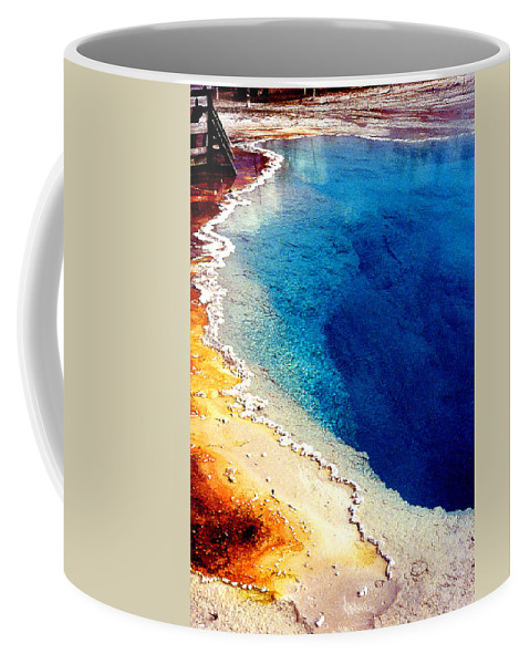 Geyser Coffee Mug featuring the photograph Geyser Basin by Nancy Mueller