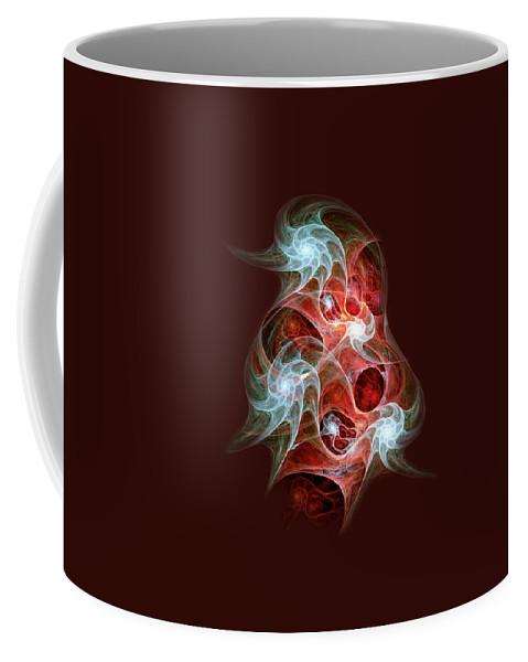 Malakhova Coffee Mug featuring the digital art Ghost Flames by Anastasiya Malakhova