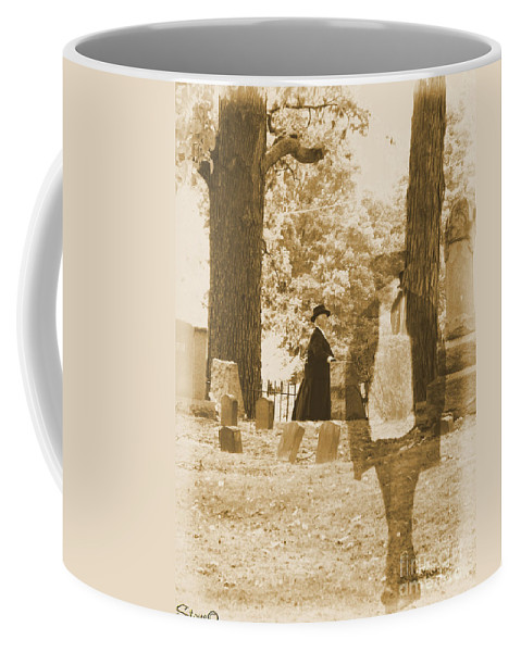 Art Coffee Mug featuring the photograph Ghost In The Graveyard by September Stone