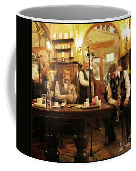 Music Coffee Mug featuring the photograph Ghost Musicians by Madeline Ellis