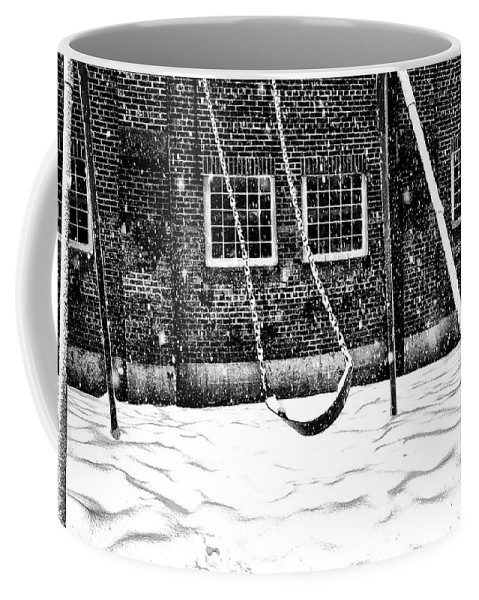 Swing Coffee Mug featuring the photograph Ghost On A Swing by Bill Cannon