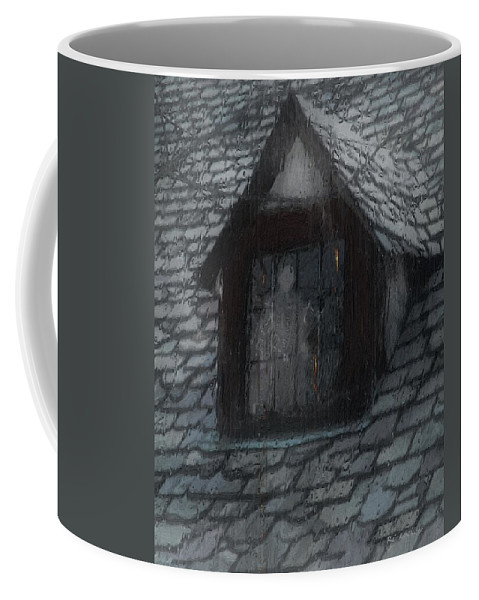 Ghost Coffee Mug featuring the painting Ghost Rain by RC deWinter