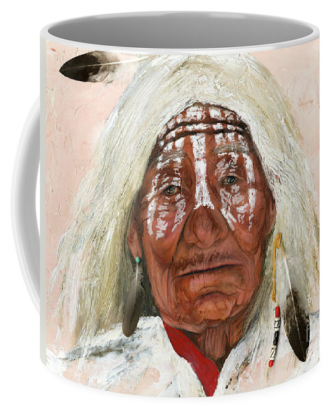 Southwest Art Coffee Mug featuring the painting Ghost Shaman by J W Baker