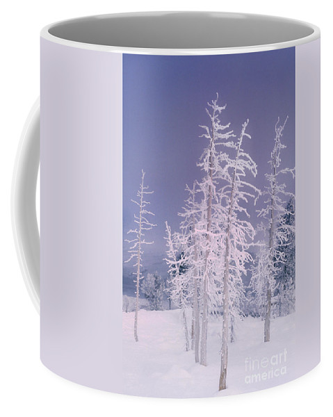 North America Coffee Mug featuring the photograph Ghost Trees Yellowstone National Park by Dave Welling