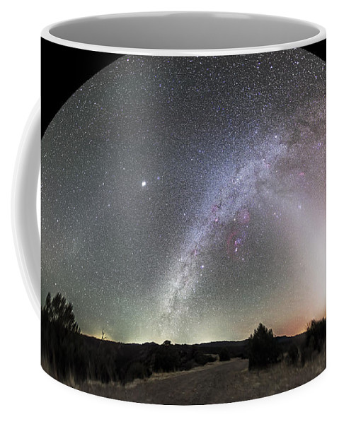 Canis Major Coffee Mug featuring the photograph Ghostly Glows Of A Truly Dark Sky by Alan Dyer