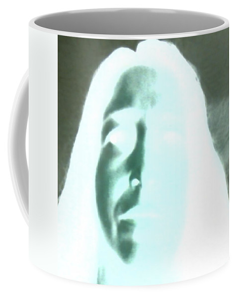Ghost Image Negative Coffee Mug featuring the photograph Ghostly Me by Cindy New