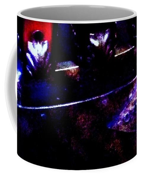 Glass Coffee Mug featuring the photograph Ghostly Offering by Lord Frederick Lyle Morris - Disabled Veteran