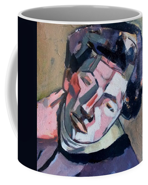 Portrait Coffee Mug featuring the painting Giacometti by Ahmet Uzuner