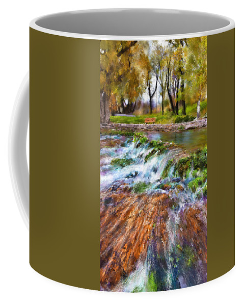 Giant Springs Coffee Mug featuring the digital art Giant Springs 2 by Susan Kinney