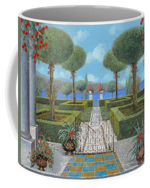 Italian Garden Coffee Mug featuring the painting Giardino Italiano by Guido Borelli