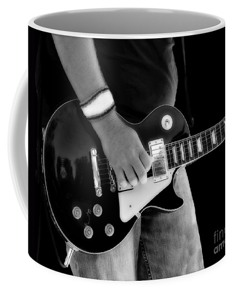 Gibson Coffee Mug featuring the photograph Gibson Les Paul Guitar by Randy Steele