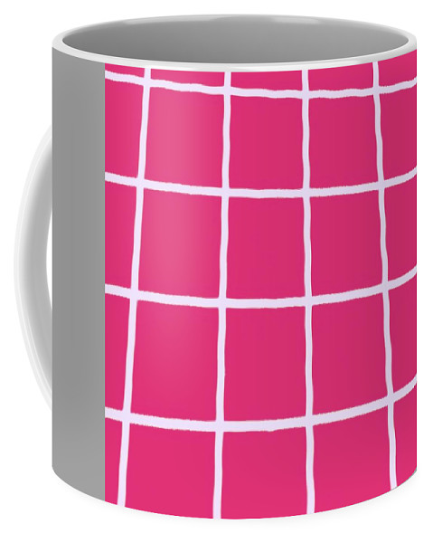 Abstract Coffee Mug featuring the photograph Griddy In Pink by Liz Love