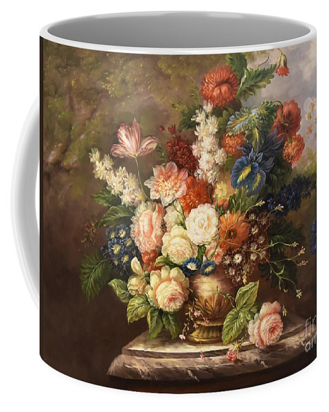 Flowers Coffee Mug featuring the painting Beauty by Farley Gharagozlou