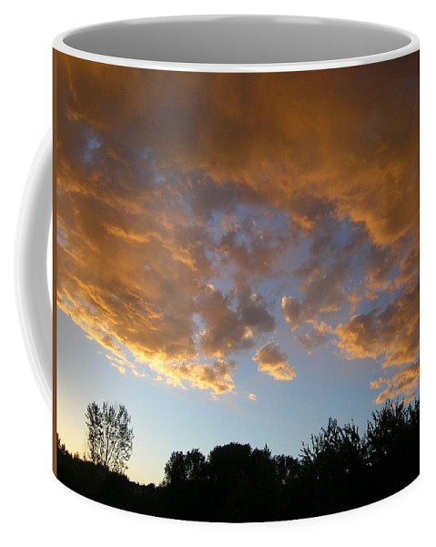 Landscape Coffee Mug featuring the photograph Gilded Cloud Bellies Above The Western Skyline by Anastasia Savage Ealy