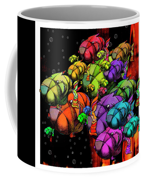 Water Coffee Mug featuring the digital art Tanked - Possumponderouspottomas by Daulby