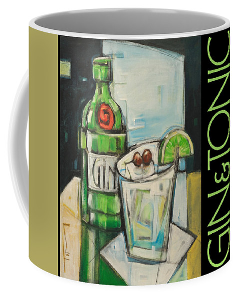 Beverage Coffee Mug featuring the painting Gin And Tonic Poster by Tim Nyberg