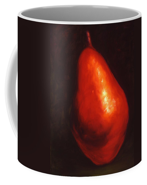 Pear Coffee Mug featuring the painting Gina by Shannon Grissom