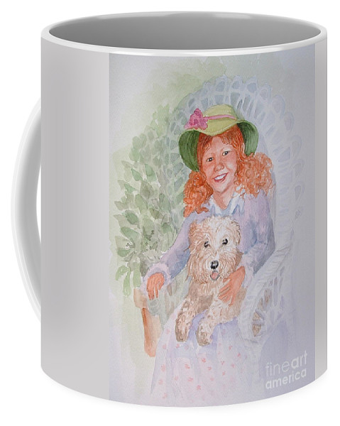 Portrait Coffee Mug featuring the painting Ginger by Marilyn Smith