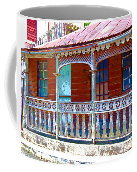 House Coffee Mug featuring the photograph Gingerbread House by Debbi Granruth