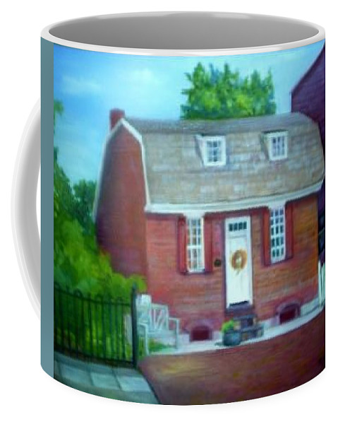 Revell House Coffee Mug featuring the painting Gingerbread House by Sheila Mashaw
