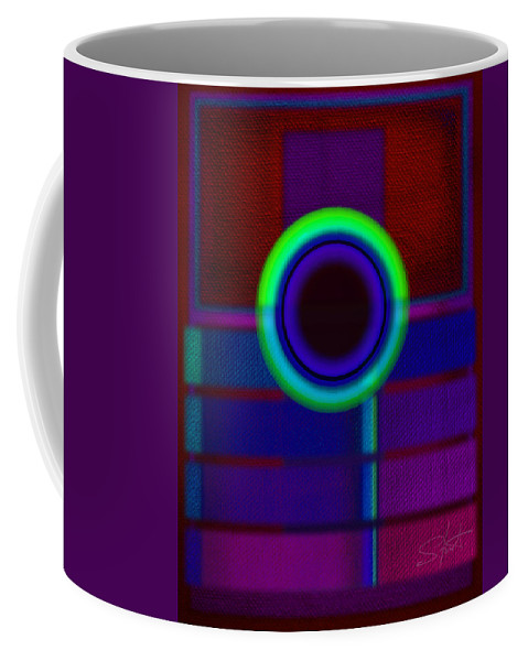 Portal Coffee Mug featuring the painting Ginza Blue by Charles Stuart