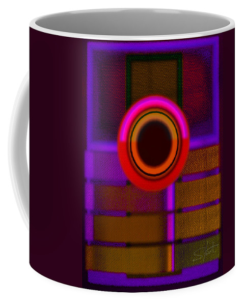 Portal Coffee Mug featuring the painting Ginza Twilight by Charles Stuart