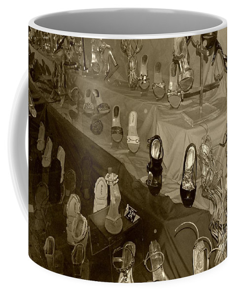 Shoes Coffee Mug featuring the photograph Girl Cant Have Enough Shoes by Debbi Granruth