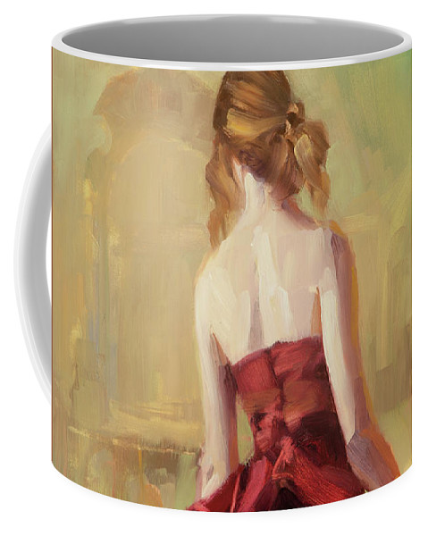 Dance Coffee Mug featuring the painting Girl In A Copper Dress II by Steve Henderson