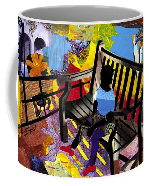 Everett Spruill Coffee Mug featuring the painting Girl In Red Shoes by Everett Spruill