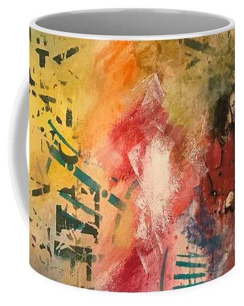 Mixed Media Coffee Mug featuring the mixed media Girl In Time by Artist Gaya