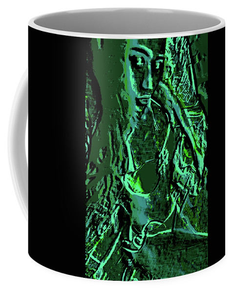 Green Coffee Mug featuring the digital art Girl Of Green by Kenny Primmer