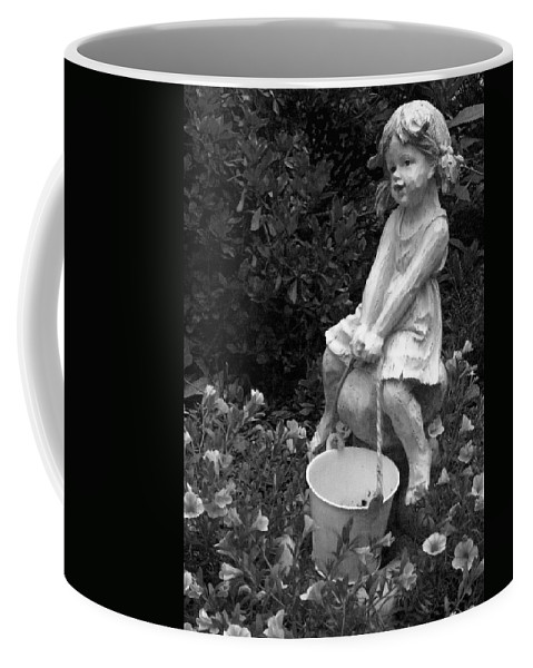 Girl Coffee Mug featuring the photograph Girl On A Mushroom by Sandi OReilly