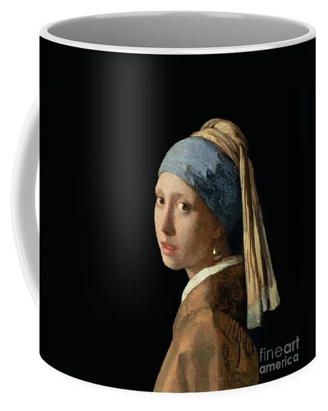 Jan Vermeer Coffee Mug featuring the painting Girl with a Pearl Earring by Jan Vermeer