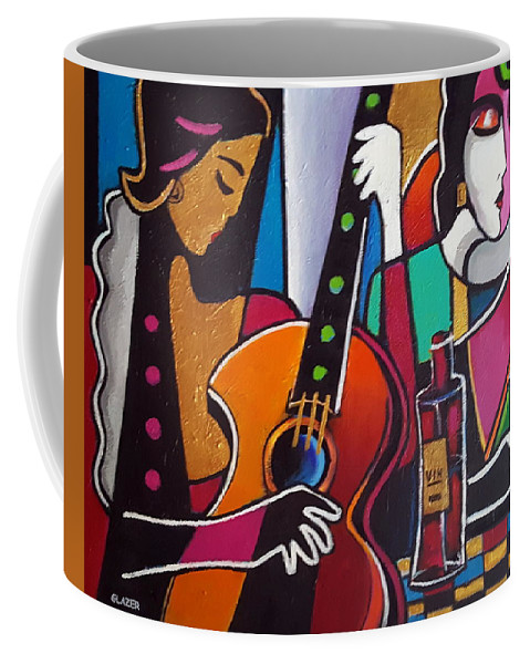 Contemporary Coffee Mug featuring the painting Girls Night Out by Stuart Glazer