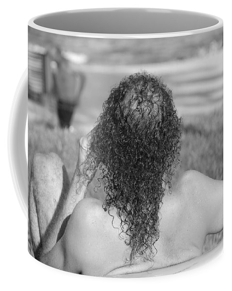 Black And White Coffee Mug featuring the photograph Give It Up Dude by Rob Hans