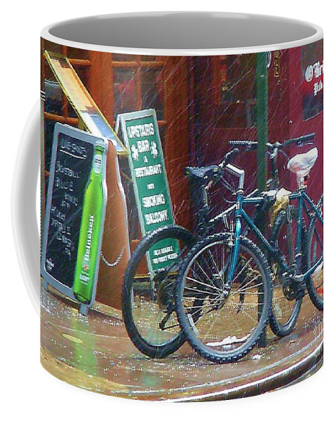 Bike Coffee Mug featuring the photograph Give Me Shelter by Debbi Granruth