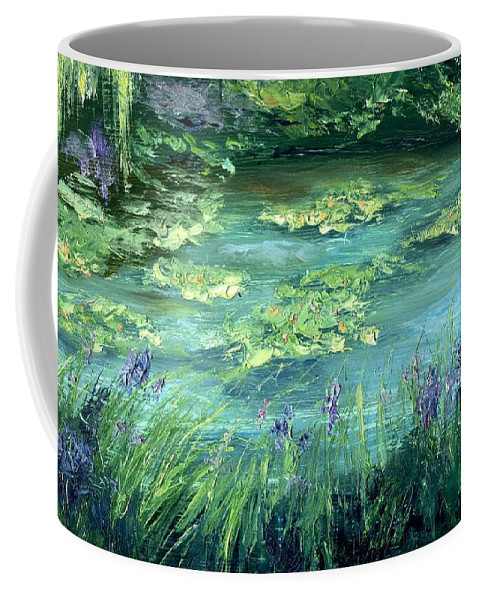 Giverny Coffee Mug featuring the painting Giverny by Gail Kirtz